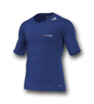 TECHFIT base - Kurzarm - royal blau