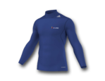 TECHFIT base MOC - Langarm - royal/blau