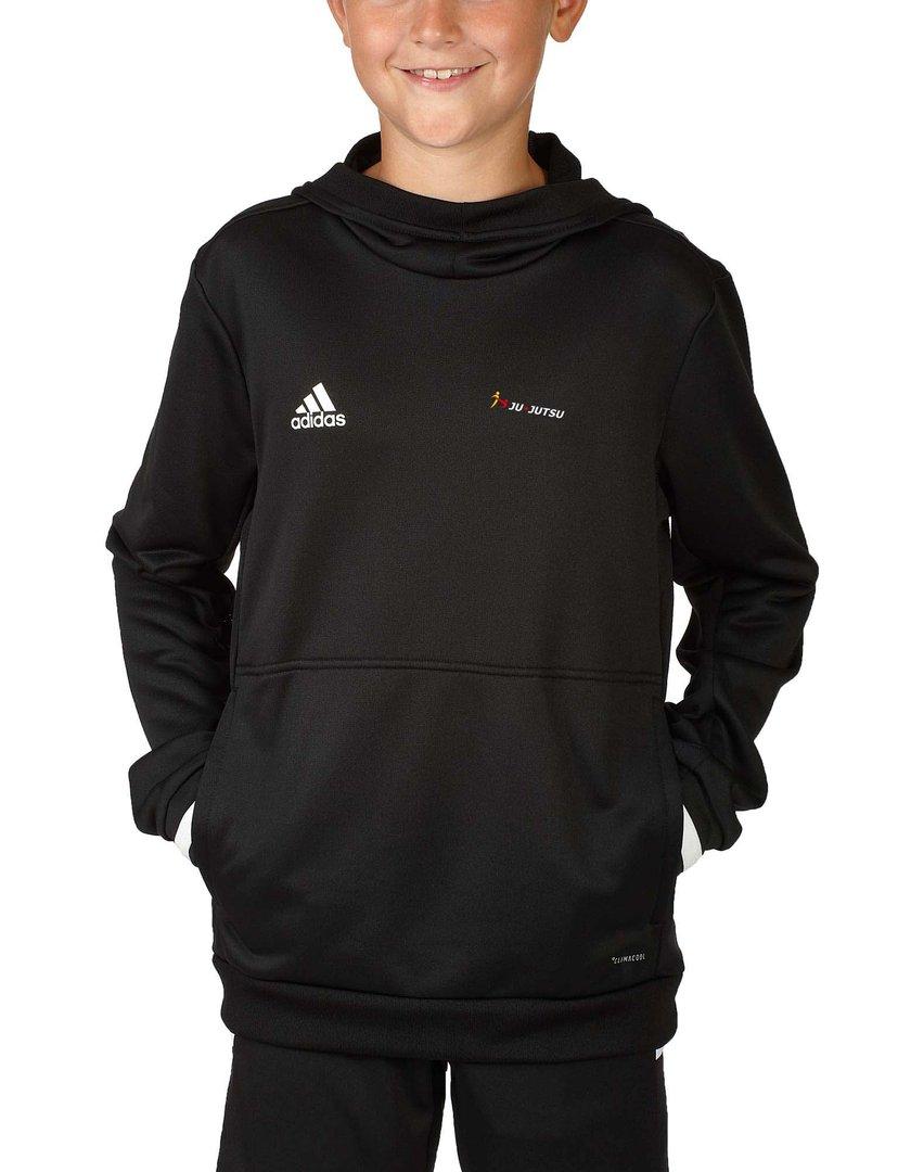 adidas T19 Hoodie Kinder schwarzweiß