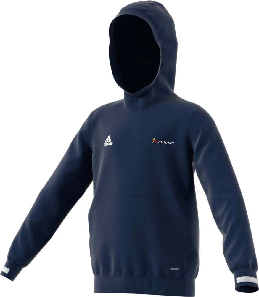 adidas T19 Hoodie Kinder blauweiß