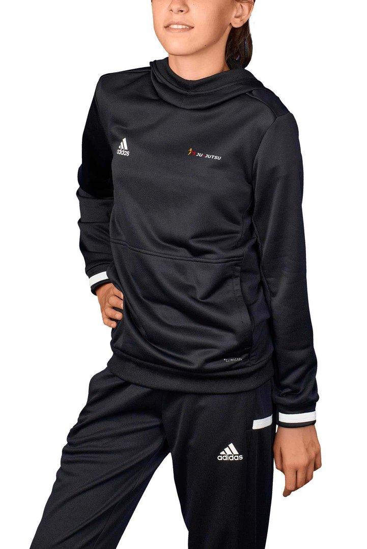 adidas T19 Hoodie Kinder schwarzweiß Ju Jutsu Shop