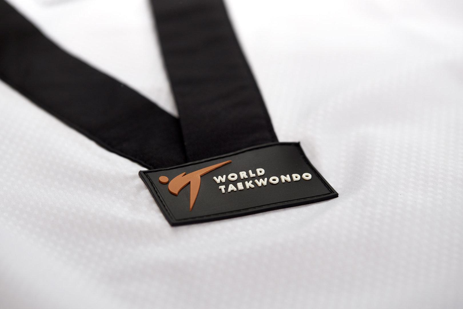 adidas Taekwondoanzug Fighter Damen ohne Streifen, schwarzes